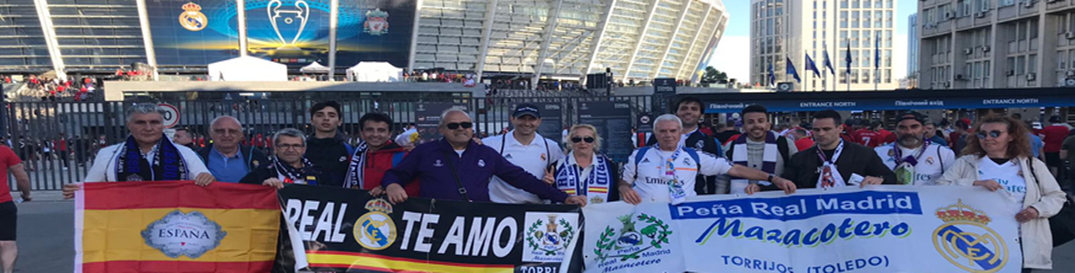 Nuestra Peña Real Madrid Mazacotero en Kiev